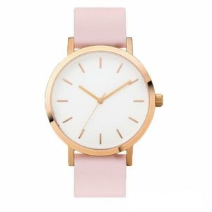 NEW Pink PU Leather Quartz Watch